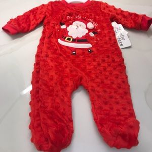 BABY STARTERS FIRST CHRISTMAS 3 MO. ONESIE NEW